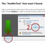 """Înșelătoria cu fontul """"HoeflerText"""" din Chrome"""