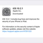 Actualizarea iOS 10.2.1