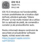 Actualizarea iOS 10 3