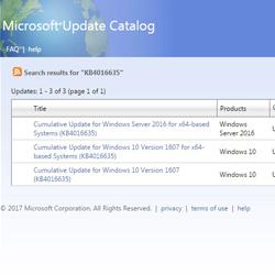 Actualizarea KB4016635 pentru Windows 10